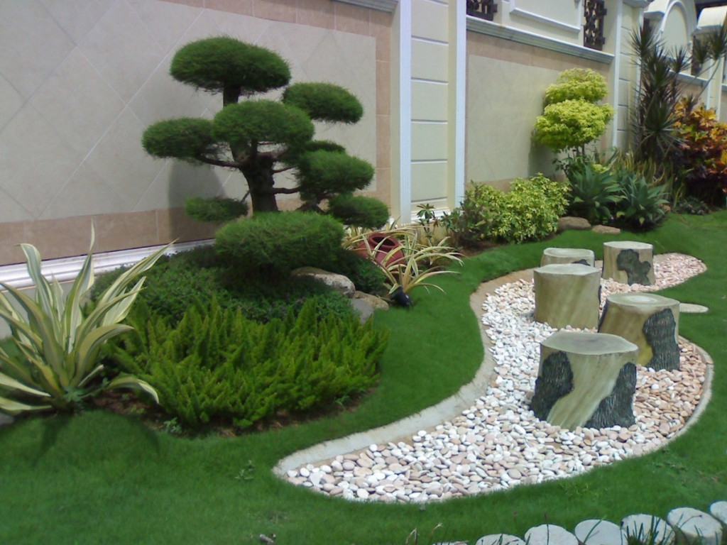 Image of: Garden Decorating Ideas With Pebbles Always In Trend Always In With White Stones Landscaping Beautiful White Stones Landscaping