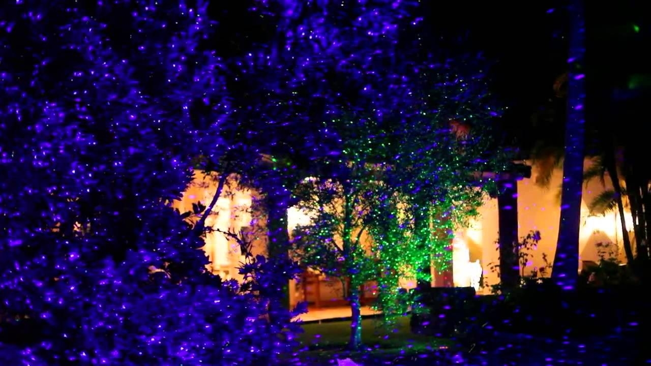 Image of: Garden Landscape Laser Light Youtube Intended For Landscape Laser Lights Landscape Laser Lights Ideas