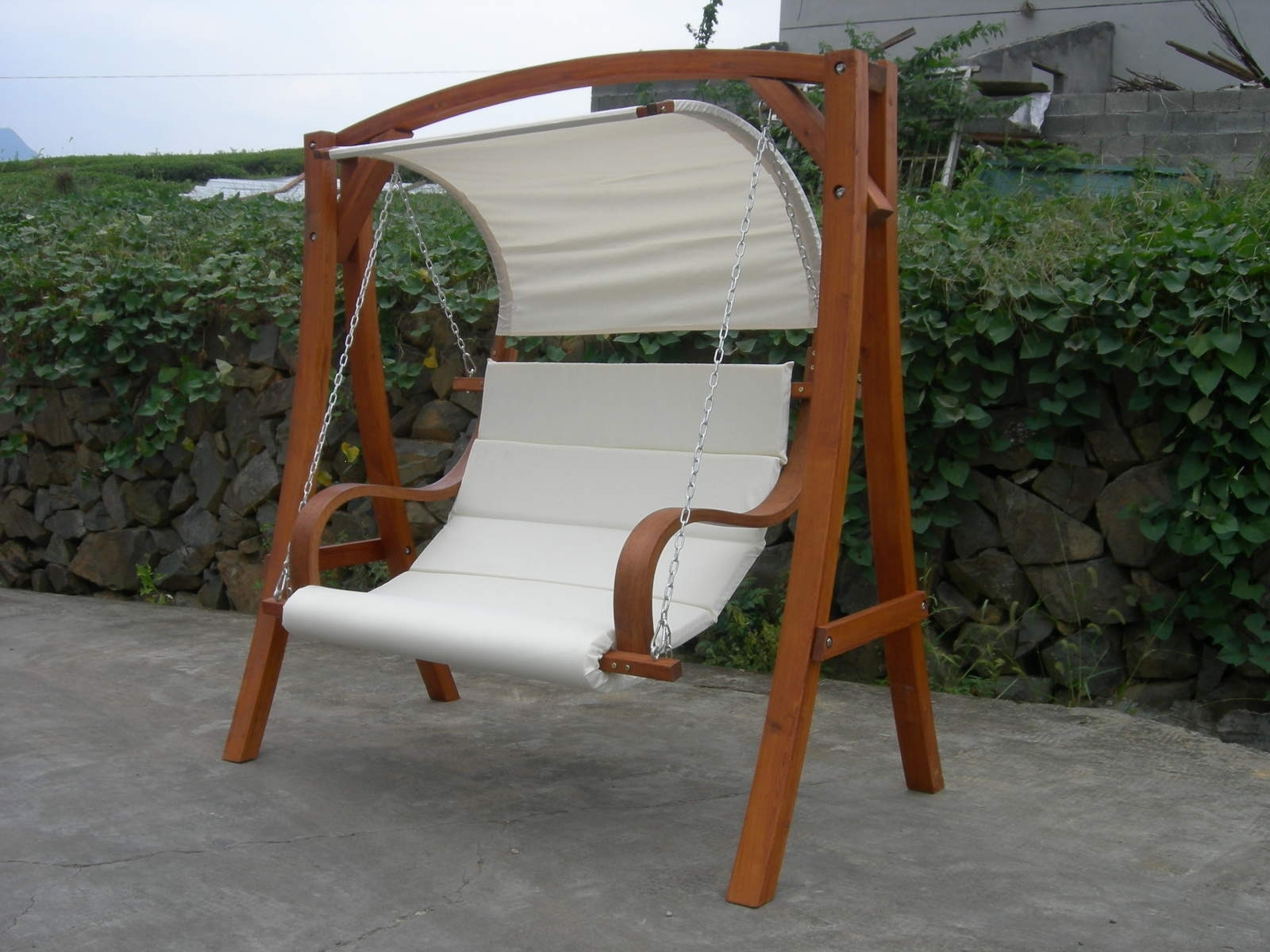 Image of: Garden Swing Seat With A Canopy Buydirect4u With Wooden Garden Swing Seats Outdoor Furniture Fun Wooden Garden Swing Seats Outdoor Furniture
