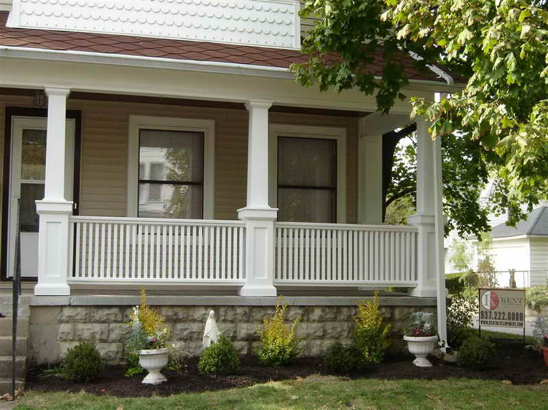 Image of: Hite Fence Front Porch Pillars