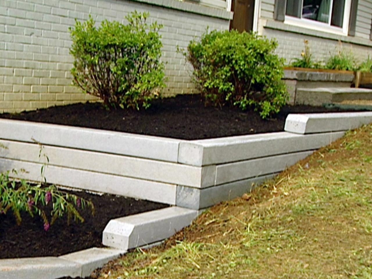Image of: How To Build A Retaining Wall For Landscaping Video Hgtv With Landscape Timbers Retaining Wall Durable Landscape Timbers Retaining Wall For Great Decoration