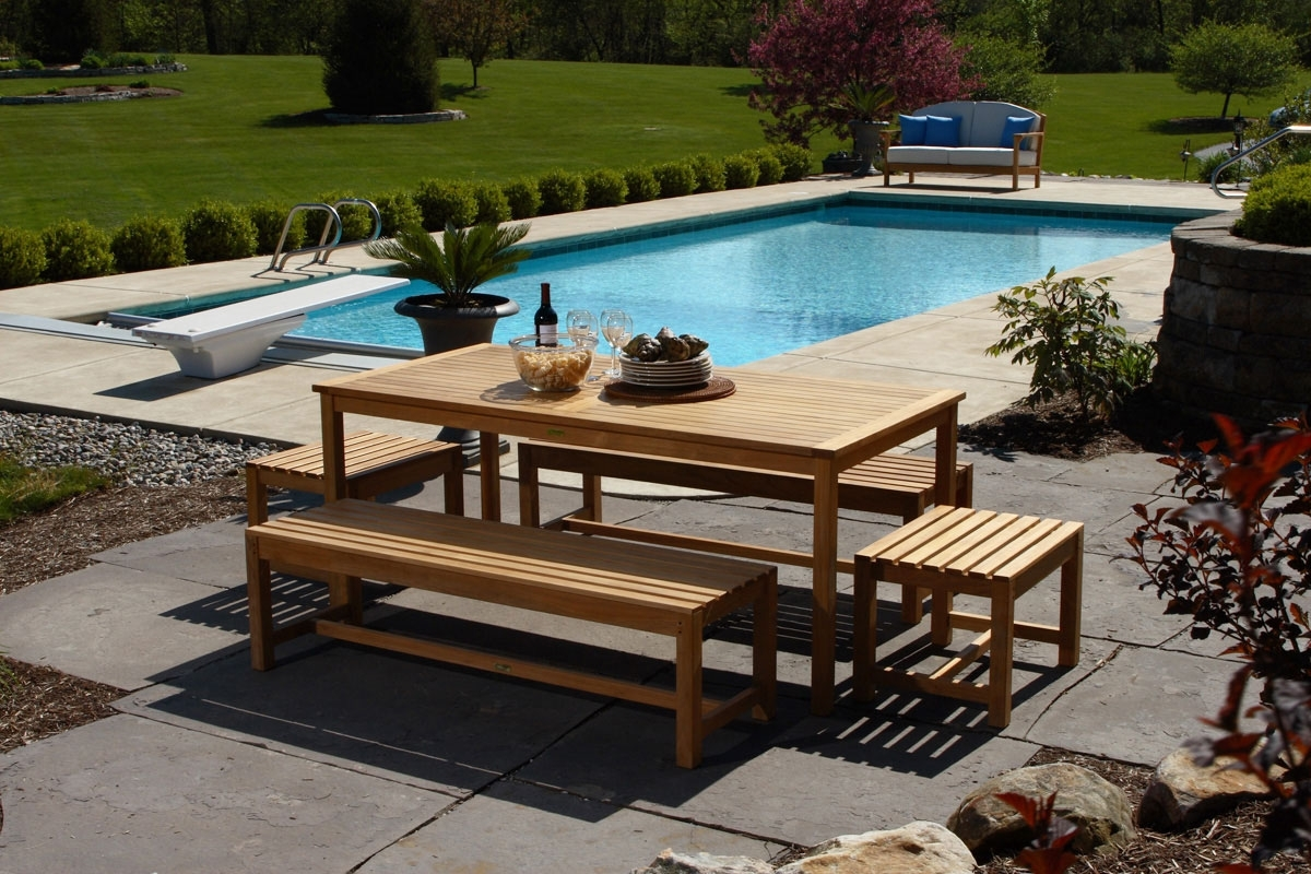Image of: How To Choose The Best Material For Outdoor Furniture Throughout Modern Teak Outdoor Furniture How To Care Modern Teak Outdoor Furniture