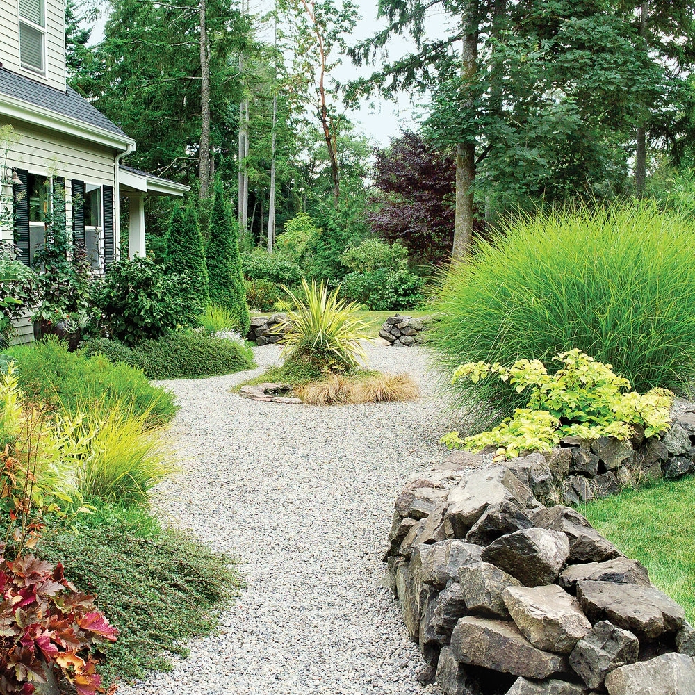 Image of: How To Landscape Gravel Sunset With Gravel Landscaping Ideas Gravel Landscaping Ideas Fresh
