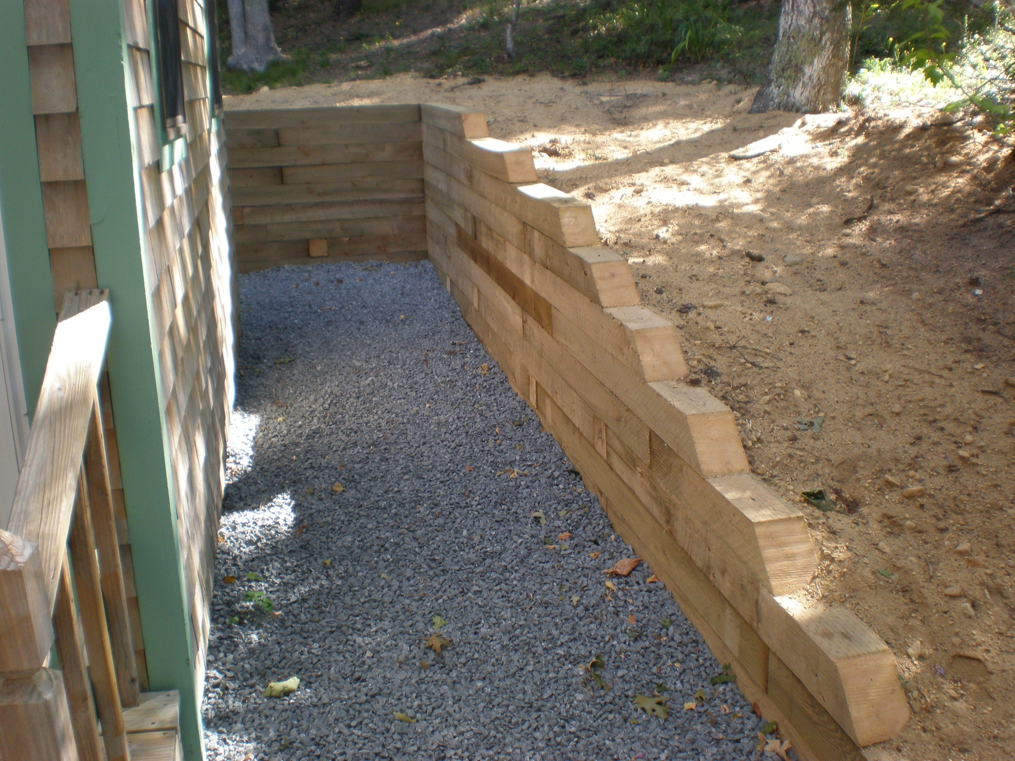 Landscape Timber Retaining Wall Meyer Landscapes Intended For Landscape Timbers Retaining Wall Durable Landscape Timbers Retaining Wall For Great Decoration