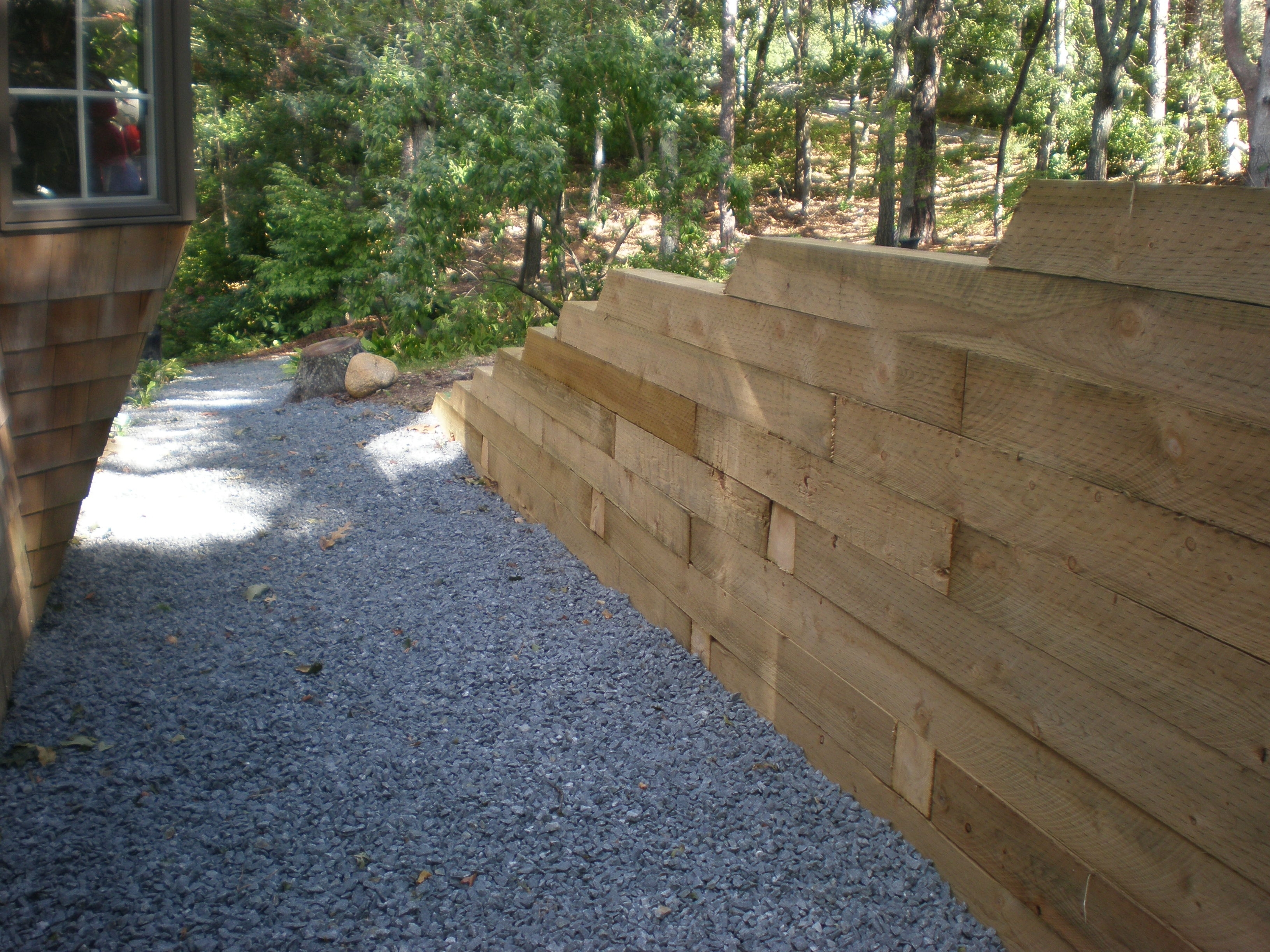 Image of: Landscape Timber Retaining Wall Meyer Landscapes Throughout Landscape Timbers Retaining Wall Durable Landscape Timbers Retaining Wall For Great Decoration