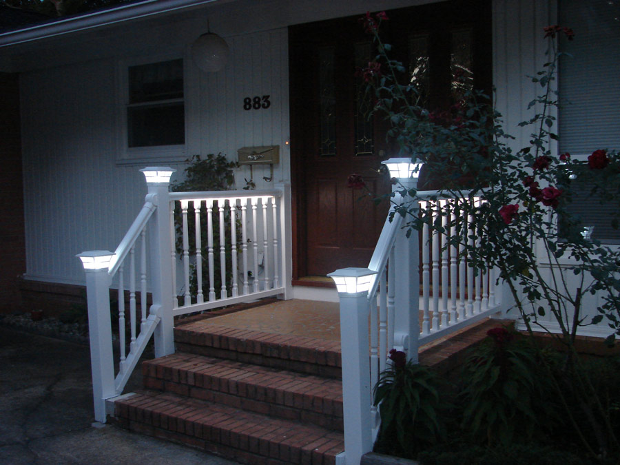 Image of: Led Porch Lights Rail