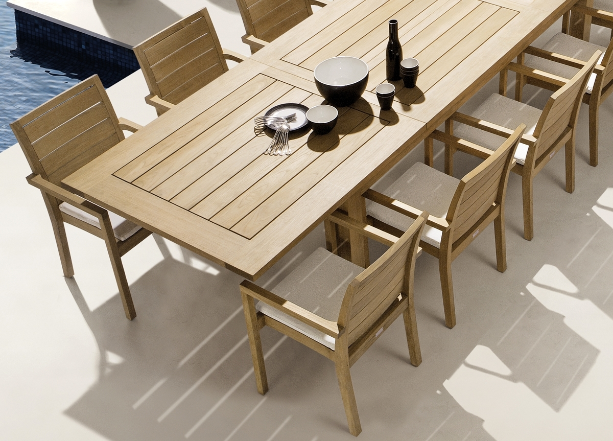 Image of: Manutti Siena Teak Garden Dining Chair Manutti Outdoor Furniture Within Modern Teak Outdoor Furniture How To Care Modern Teak Outdoor Furniture