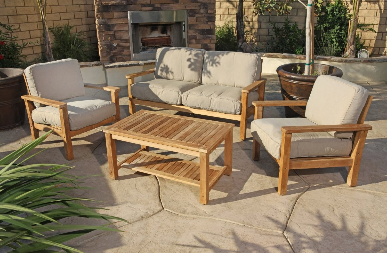 Image of: Modern Furniture Modern Teak Outdoor Furniture Medium Dark Inside Modern Teak Outdoor Furniture How To Care Modern Teak Outdoor Furniture