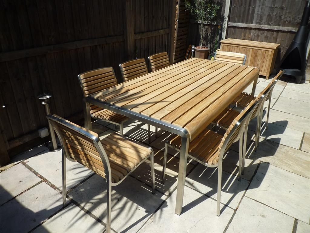 Image of: Modern Teak Outdoor Furniture Simple Outdoor With Regard To Modern Teak Outdoor Furniture How To Care Modern Teak Outdoor Furniture