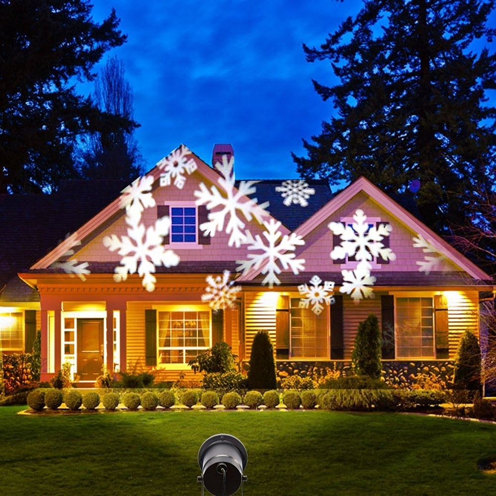 Image of: Moving Snowflake Led Outdoor Landscape Laser Projector Lamp Garden With Regard To Landscape Laser Lights Landscape Laser Lights Ideas