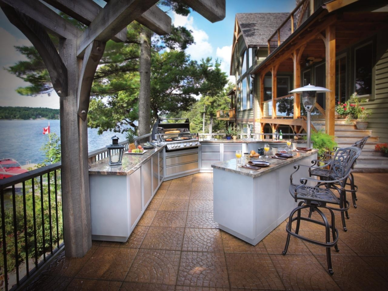 Image of: Optimizing An Outdoor Kitchen Layout Hgtv With Regard To Outdoor Deck Kitchens Outdoor Deck Kitchens Perfect For All Family