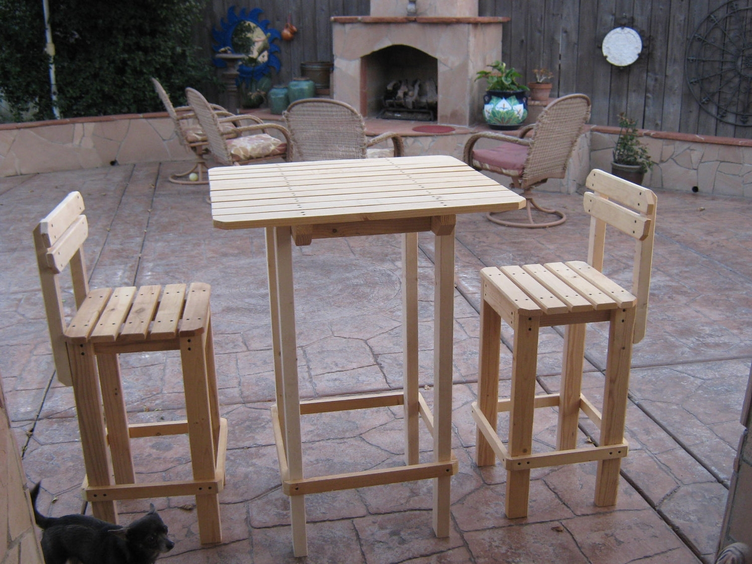 Image of: Tables Inside Bar Stool Outdoor Furniture