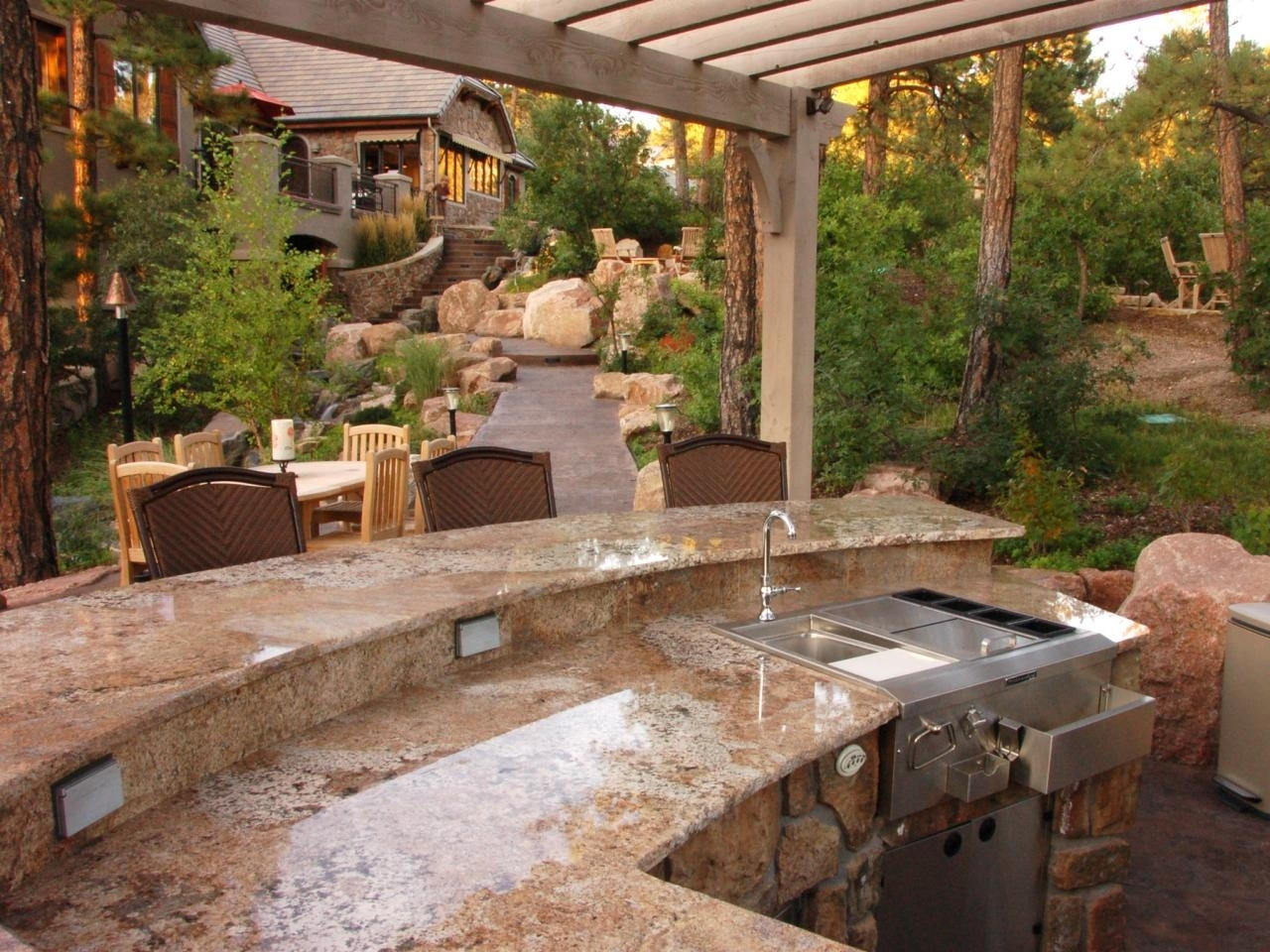 Image of: Outdoor Kitchen Countertops Pictures Tips Expert Ideas Hgtv With Outdoor Kitchen Granite Countertops Outdoor Kitchen Granite Countertops Design