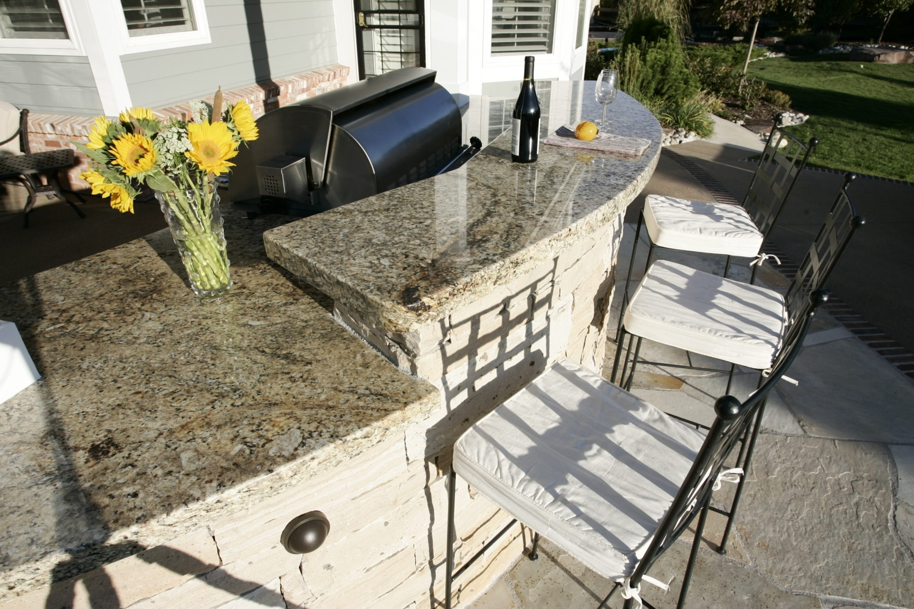 Image of: Outdoor Kitchen Denver Landscape Connection Regarding Outdoor Kitchen Granite Countertops Outdoor Kitchen Granite Countertops Design