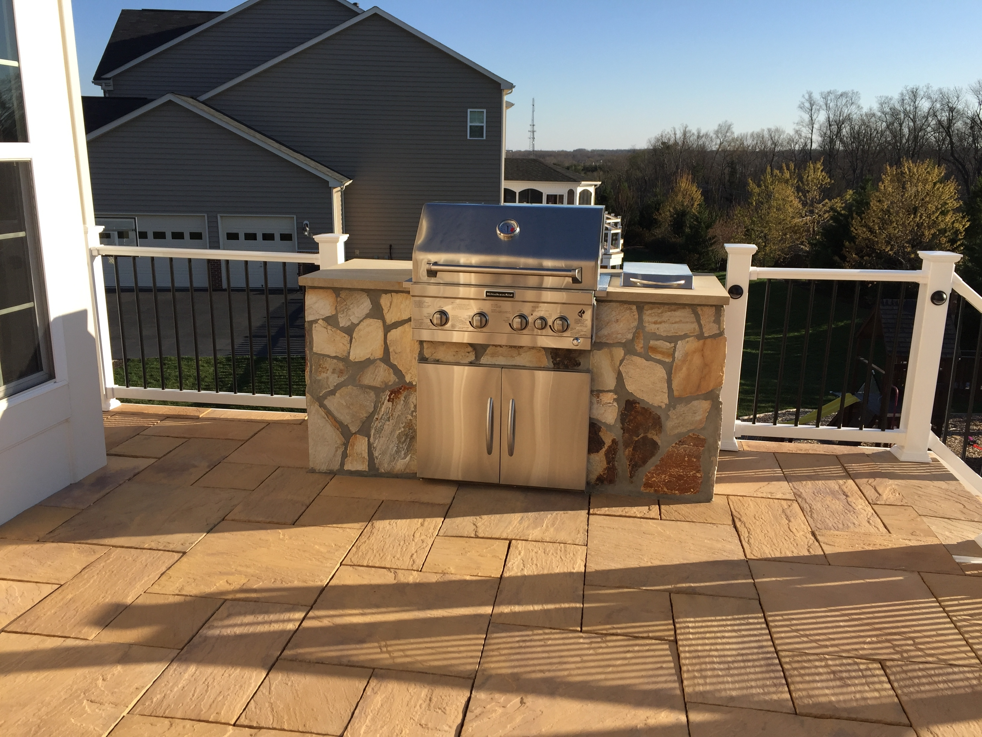 Image of: Outdoor Kitchens Grills American Exteriors Masonry With Regard To Outdoor Deck Kitchens Outdoor Deck Kitchens Perfect For All Family