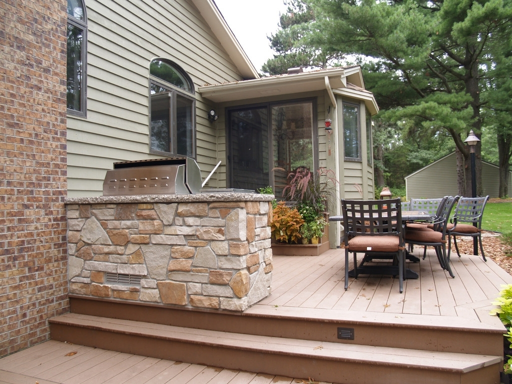 Image of: Outdoor Kitchens Projects Hedberg Landscape And Masonry Inside Outdoor Deck Kitchens Outdoor Deck Kitchens Perfect For All Family