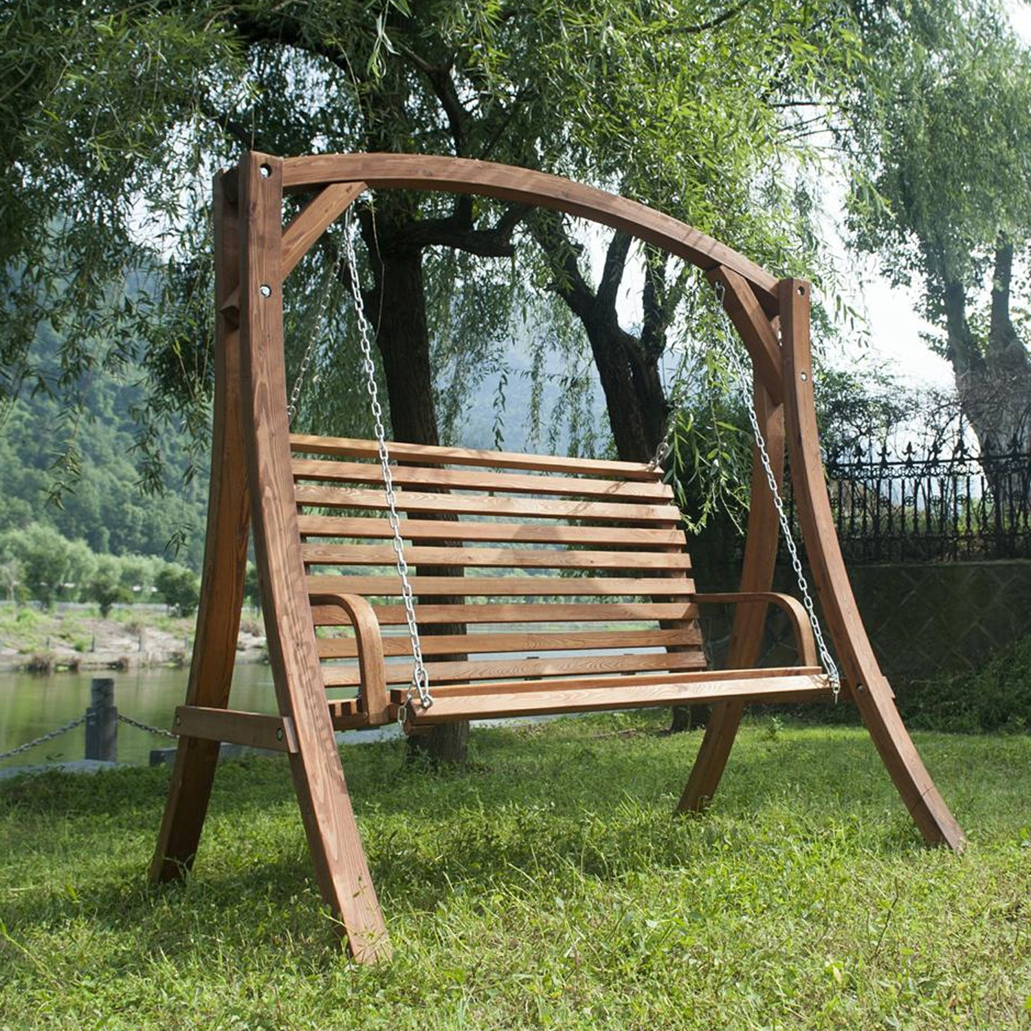 Image of: Patio Swing Chair With Stand Lukhq Cnxconsortium Outdoor In Wooden Garden Swing Seats Outdoor Furniture Fun Wooden Garden Swing Seats Outdoor Furniture
