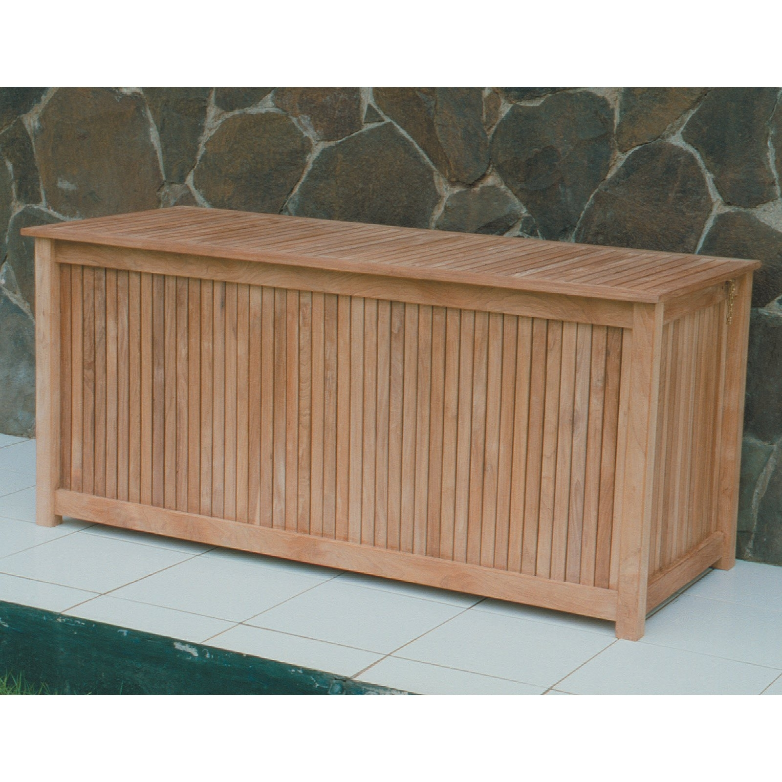 Image of: Royal Teak 53 In 80 Gallon Storage Deck Box Hayneedle In Storage For Outdoor Cushions Store Storage For Outdoor Cushions