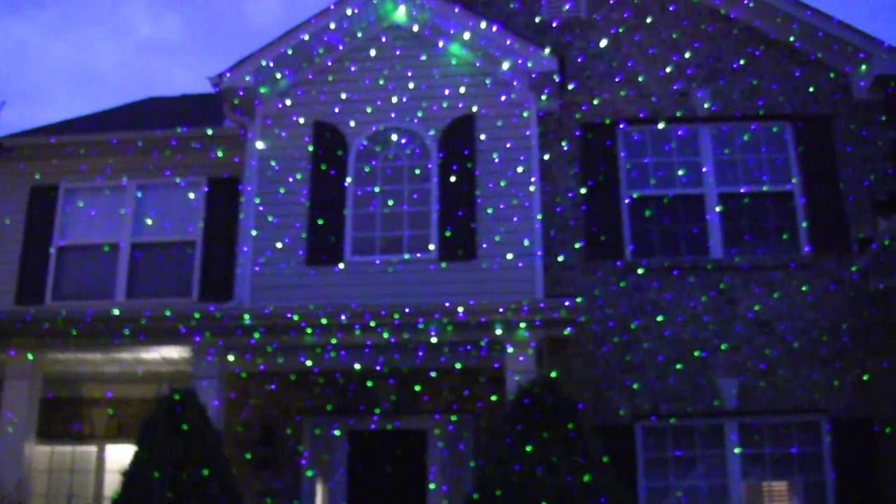 Image of: Seresroad Laser Light Review Garden Laser Light Youtube With Regard To Landscape Laser Lights Landscape Laser Lights Ideas