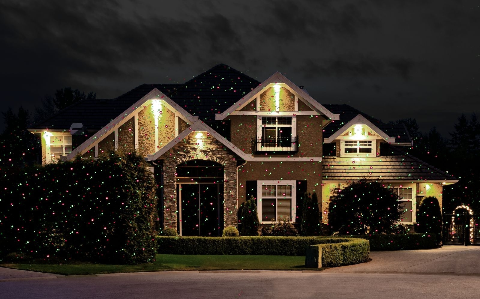 Image of: Startastic Holiday Light Show The As Seen On Tv Laser Light Throughout Landscape Laser Lights Landscape Laser Lights Ideas