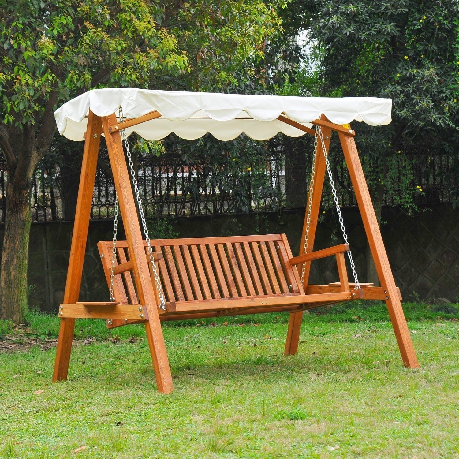 Image of: Swing Chair Garden Furniture Accessories Garden Outdoor Inside Wooden Garden Swing Seats Outdoor Furniture Fun Wooden Garden Swing Seats Outdoor Furniture