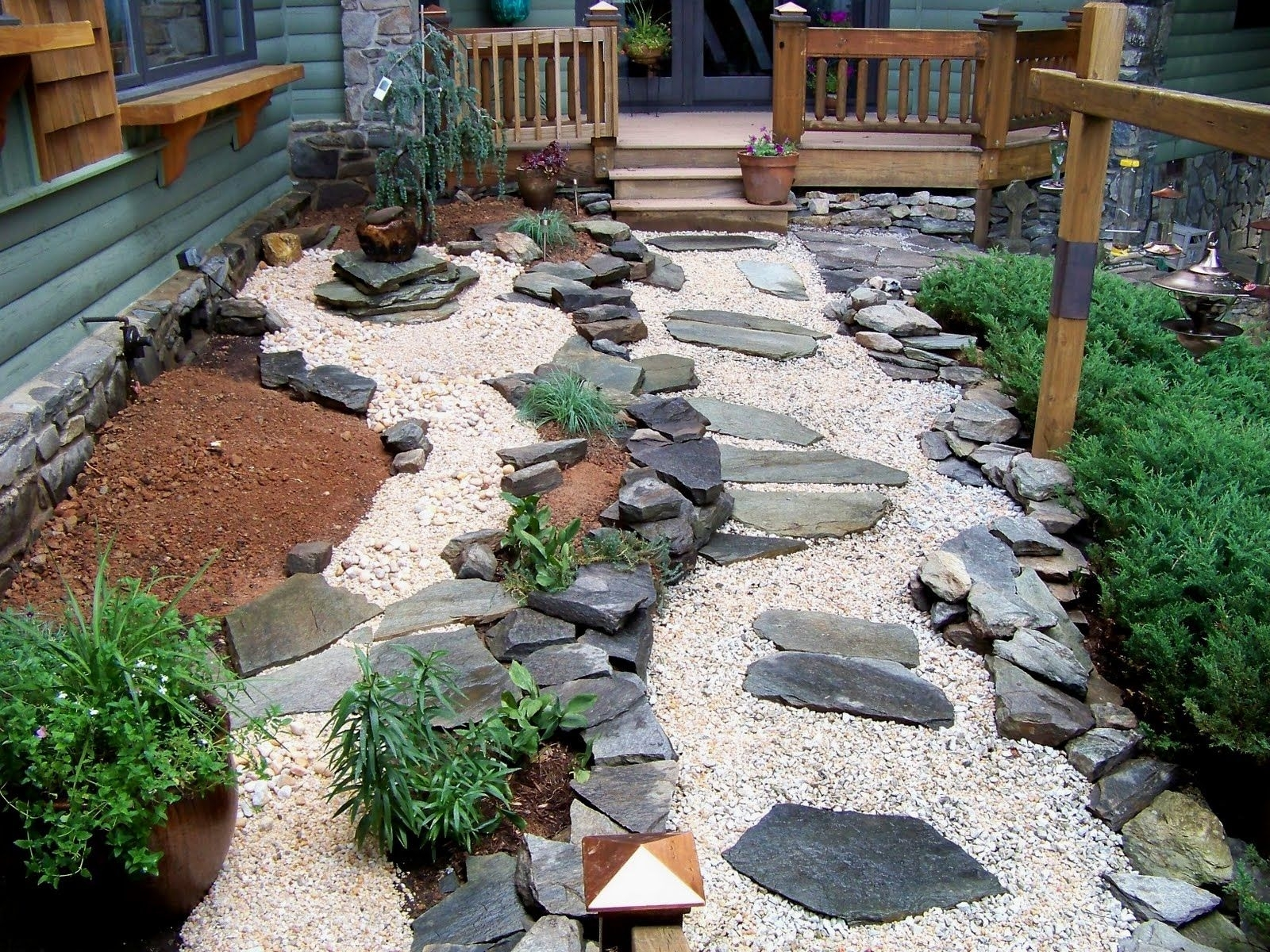 Image of: The Right Stone For Your Garden Design Garden Design Ideas With Intended For White Stones Landscaping Beautiful White Stones Landscaping