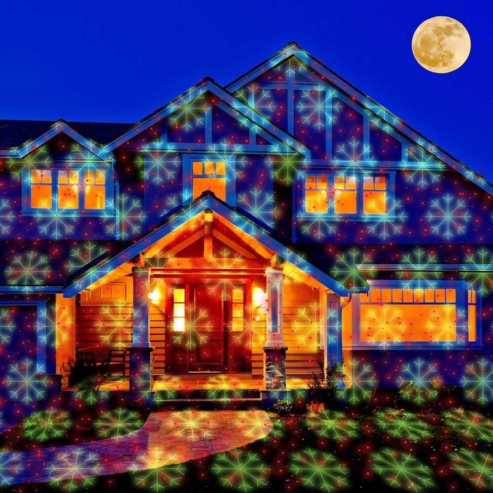 Image of: The Virtual Christmas Display Laser Light Projector Hammacher Inside Landscape Laser Lights Landscape Laser Lights Ideas