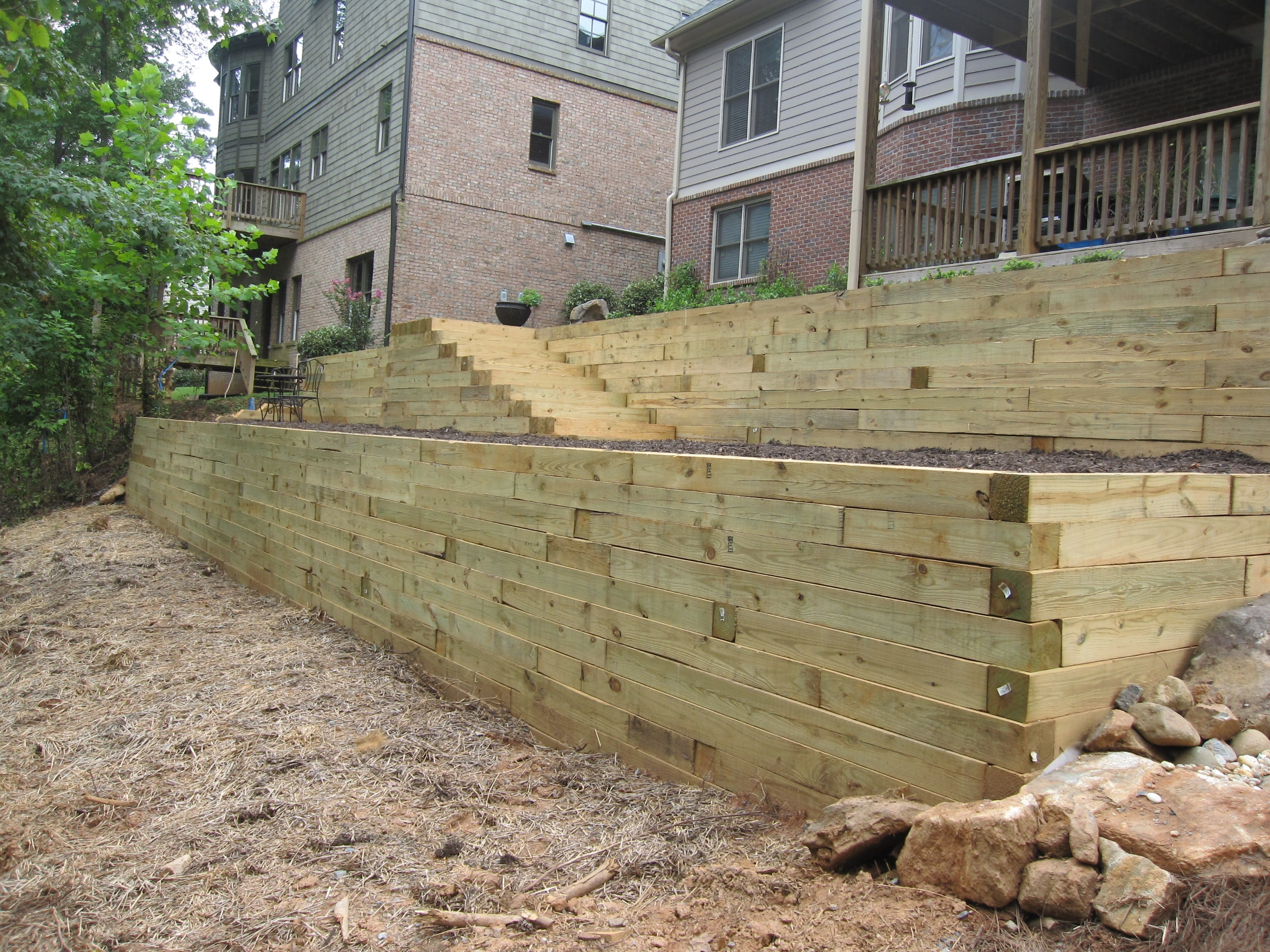 Image of: Timber Retaining Wall Designs And This 774 1279745510 Regarding Landscape Timbers Retaining Wall Durable Landscape Timbers Retaining Wall For Great Decoration
