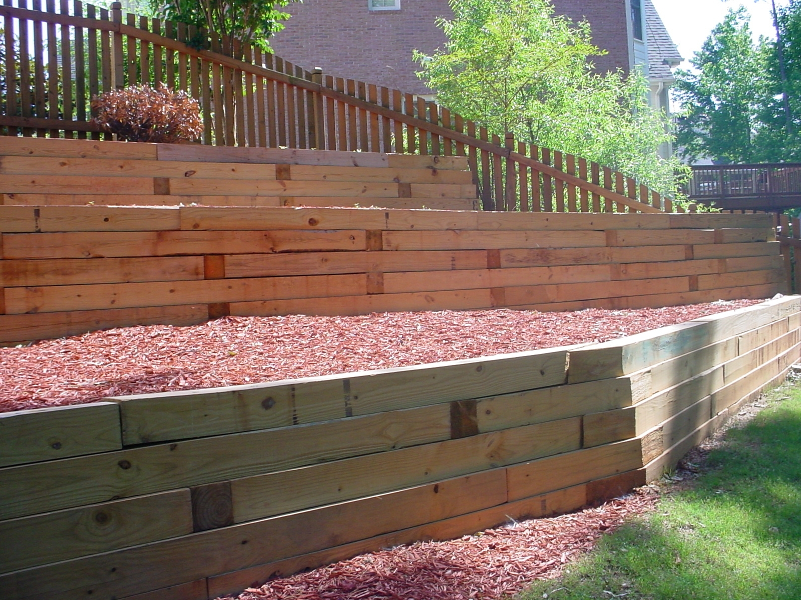 Image of: Timber Retaining Wall Designs There Are More Landscape Retaining Throughout Landscape Timbers Retaining Wall Durable Landscape Timbers Retaining Wall For Great Decoration
