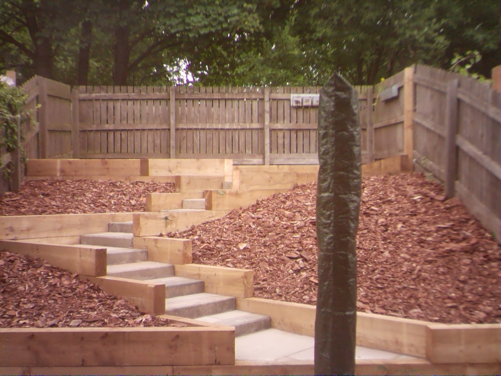Time Lapse Garden Landscaping Railway Sleeper Retaining Walls With Landscape Timbers Retaining Wall Durable Landscape Timbers Retaining Wall For Great Decoration