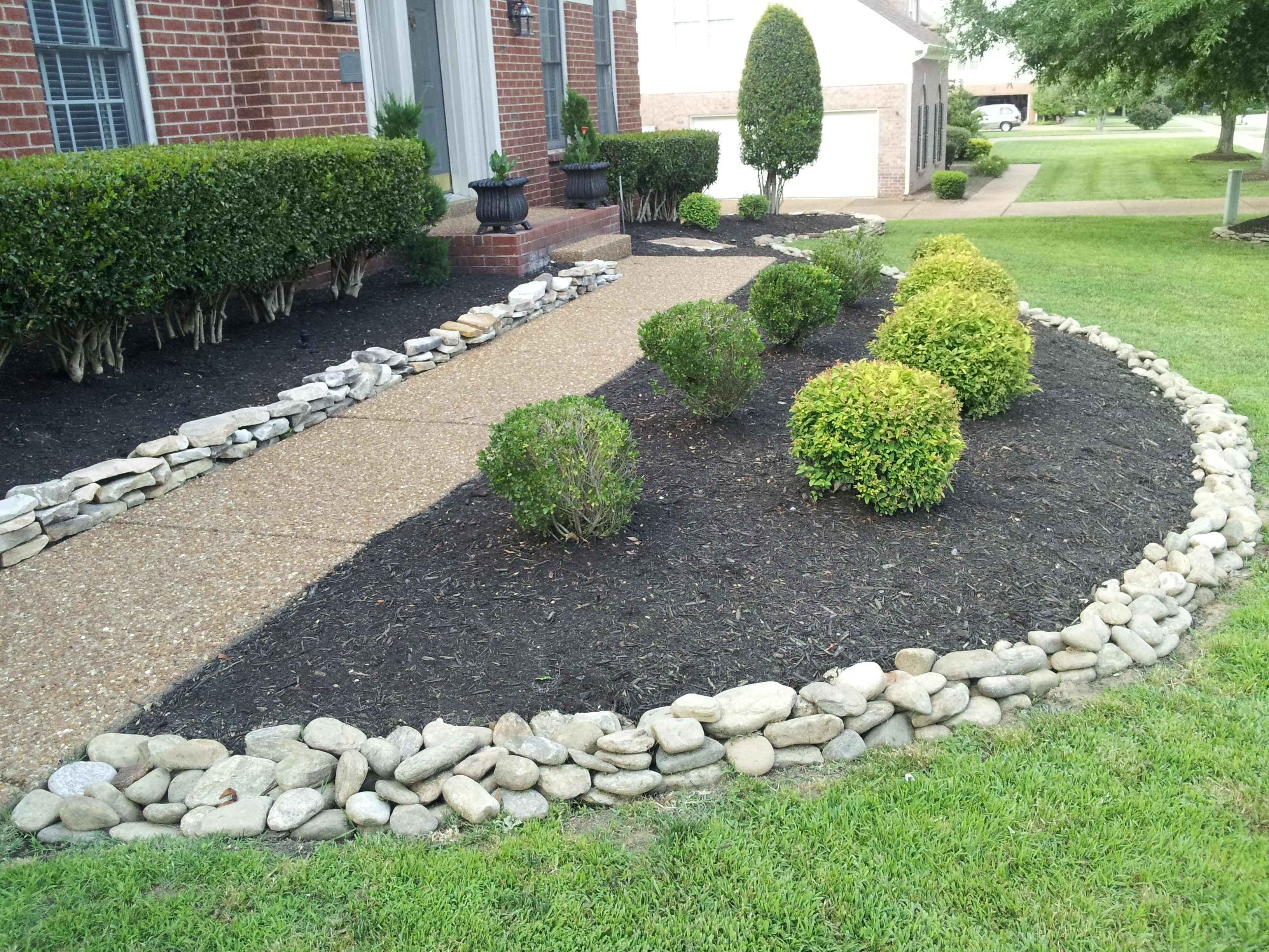 Image of: Use Of Landscaping Rocks Is Beautiful Design Aesthetics To Explore Inside White Stones Landscaping Beautiful White Stones Landscaping