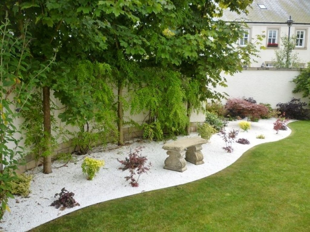 Image of: Wonderful Landscaping Ideas With White Pebbles And Stones Page 2 With Regard To White Stones Landscaping Beautiful White Stones Landscaping