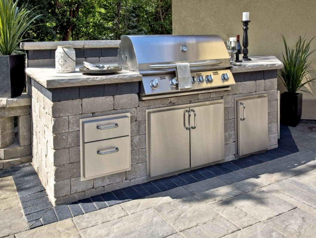Image of: 10 Outdoor Kitchen Designs Sure To Inspire Unilock Regarding Unilock Outdoor Kitchens Decorate Unilock Outdoor Kitchens