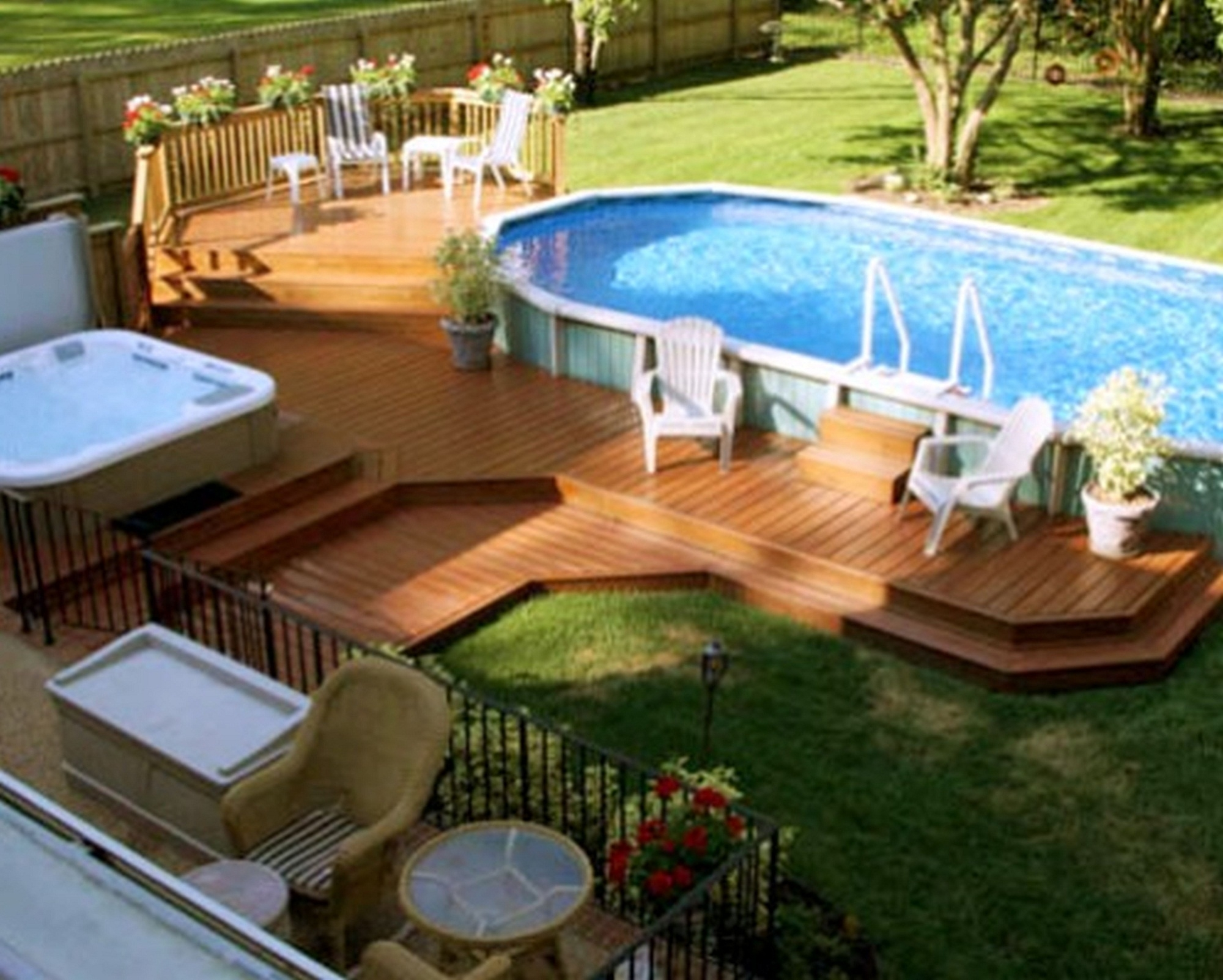 Image of: 19 Above Ground Pool Landscaping Electrohome With Above Ground Pool Landscaping Ideas Above Ground Pool Landscaping