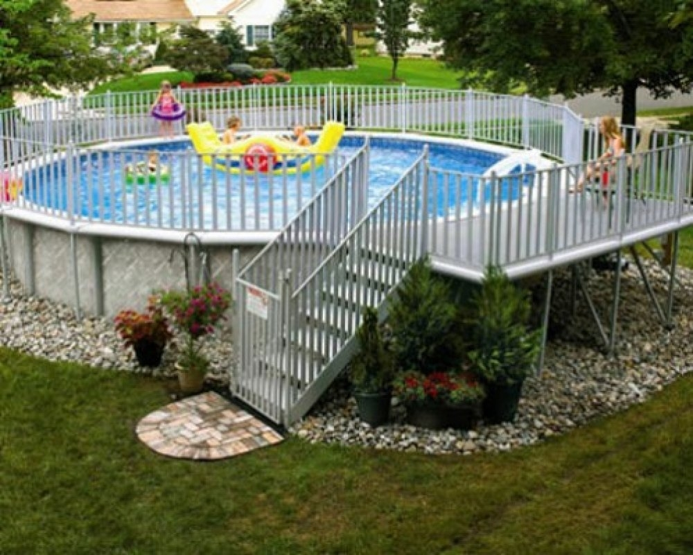 19 Above Ground Pool Landscaping Electrohome With Regard To Above Ground Pool Landscaping Ideas Above Ground Pool Landscaping