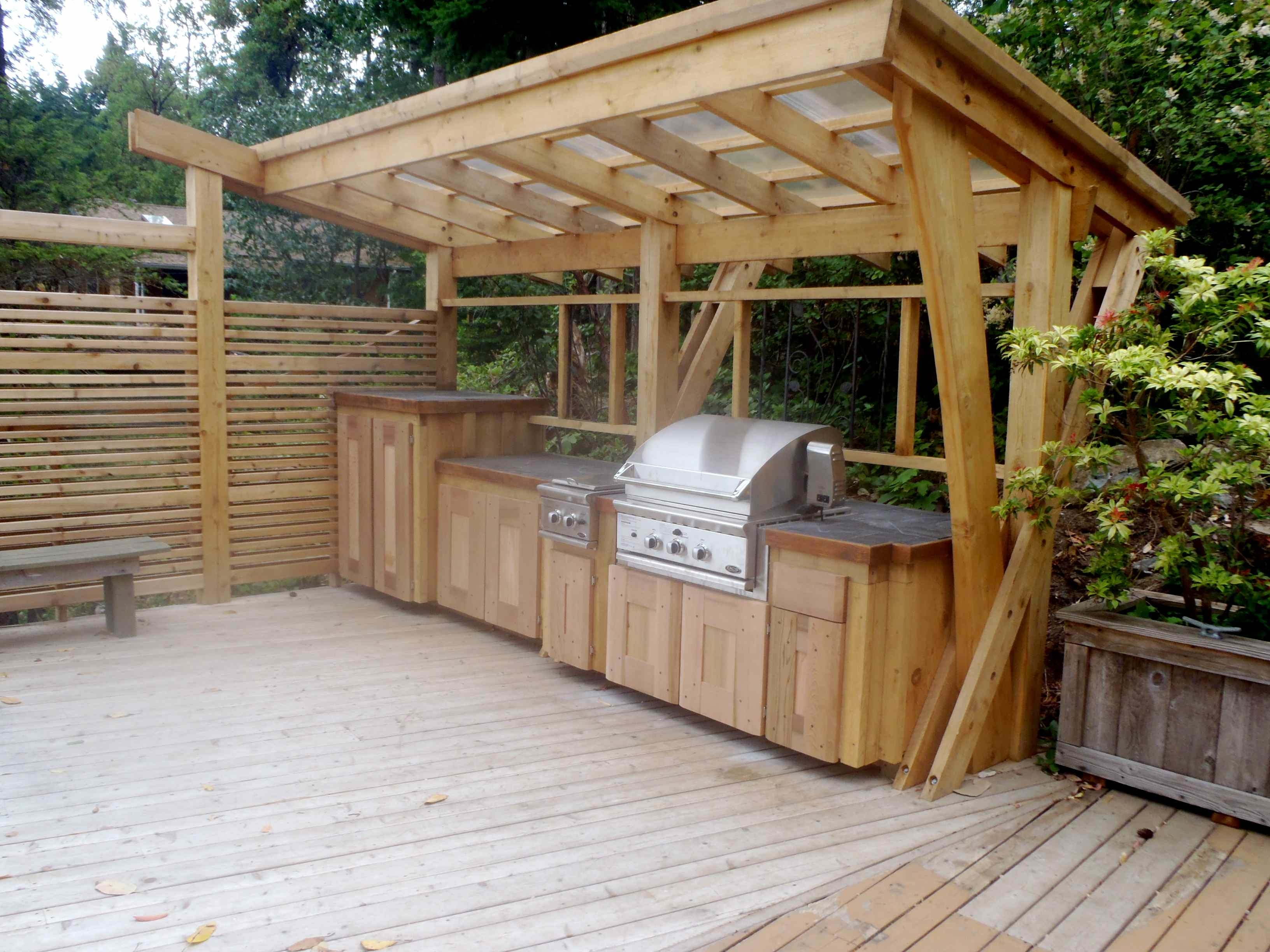 Image of: 25 Best Bbq Overhangs Protect Your Chef Images On Pinterest Regarding Outdoor Kitchen Roofs Outdoor Kitchen Roofs Painting
