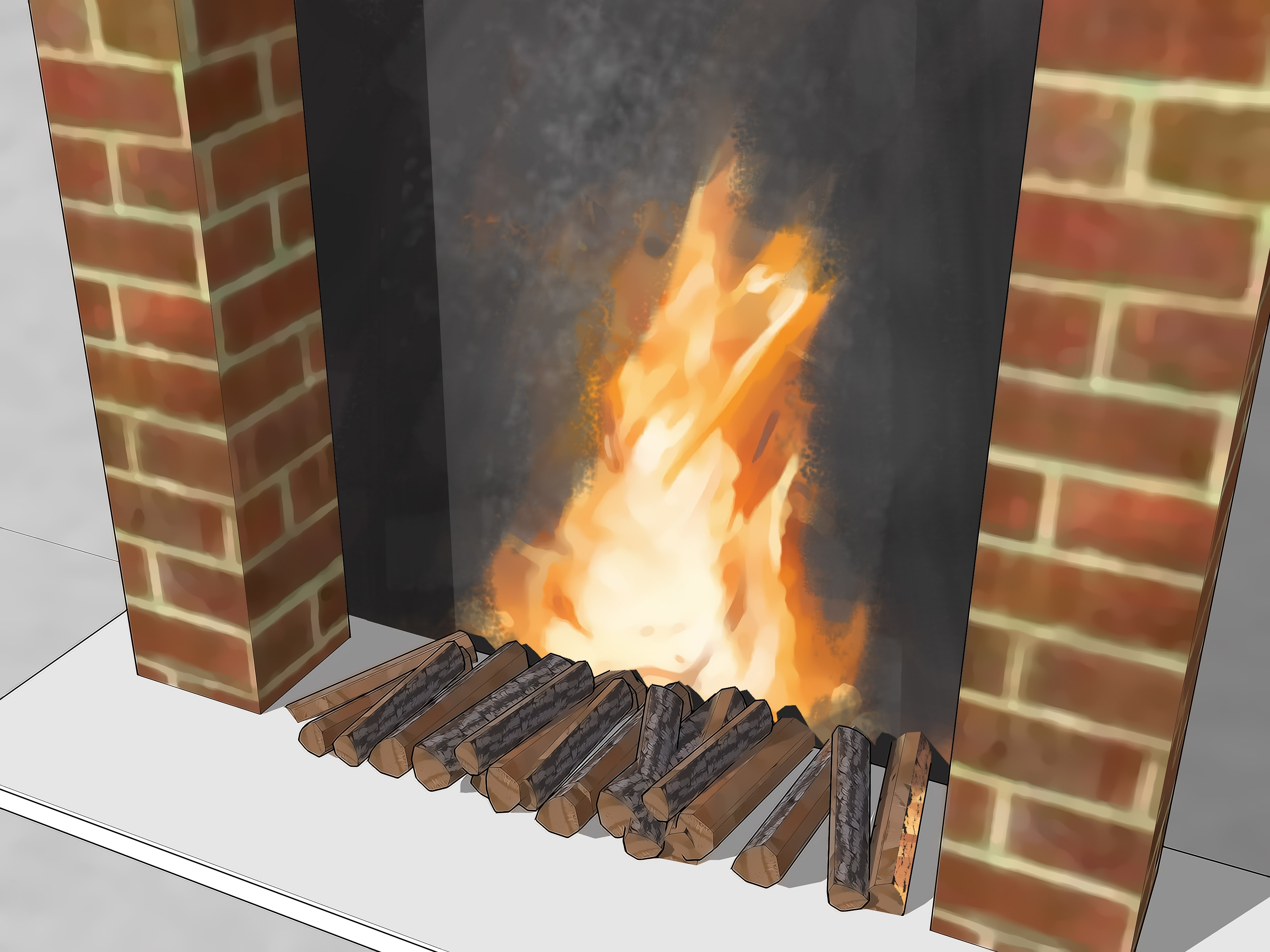 Image of: 3 Ways To Make A Fake Fireplace Wikihow Intended For Fake Outdoor Fireplace Build Fake Outdoor Fireplace