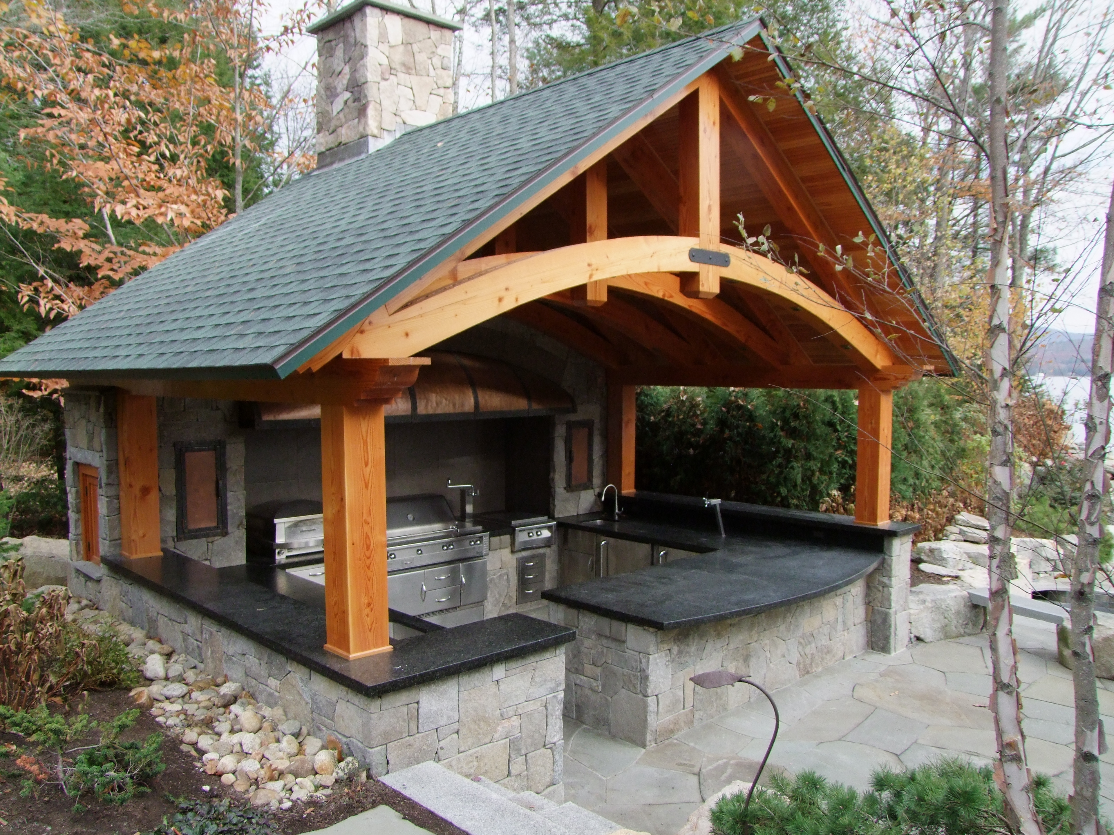 Image of: 4 Ways To Improve Your Outdoor Kitchen Belknap Landscape Pertaining To Outdoor Kitchen Roofs Outdoor Kitchen Roofs Painting