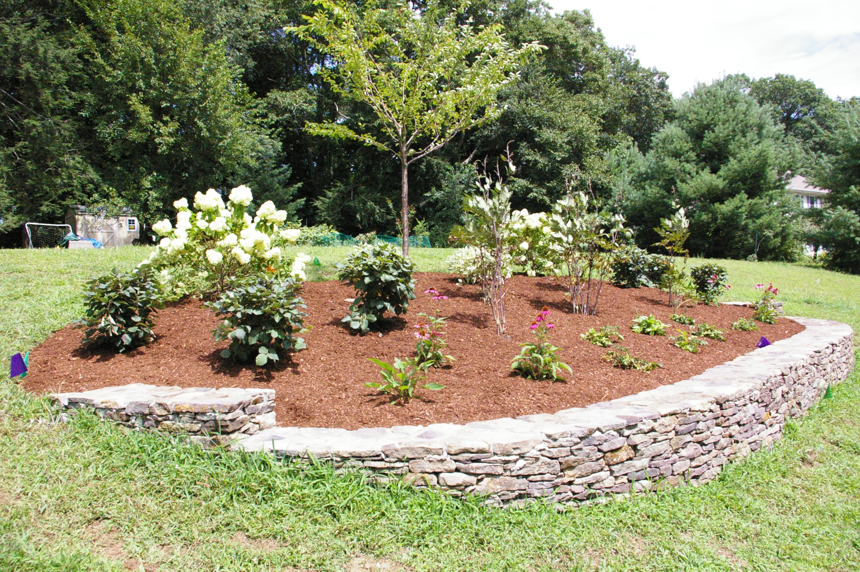 Image of: A Berm For Curb Appeal Land Designs Unlimited Llc Inside Landscape Berm Best Design Landscape Berm