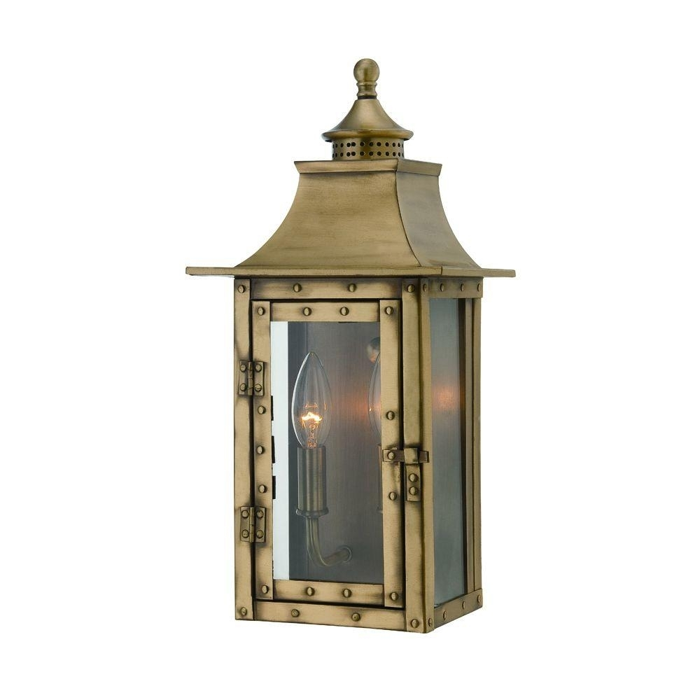 Image of: Acclaim Lighting St Charles Collection 2 Light Aged Brass Outdoor Throughout Brass Outdoor Lights Brass Outdoor Lights Beautify Exterior