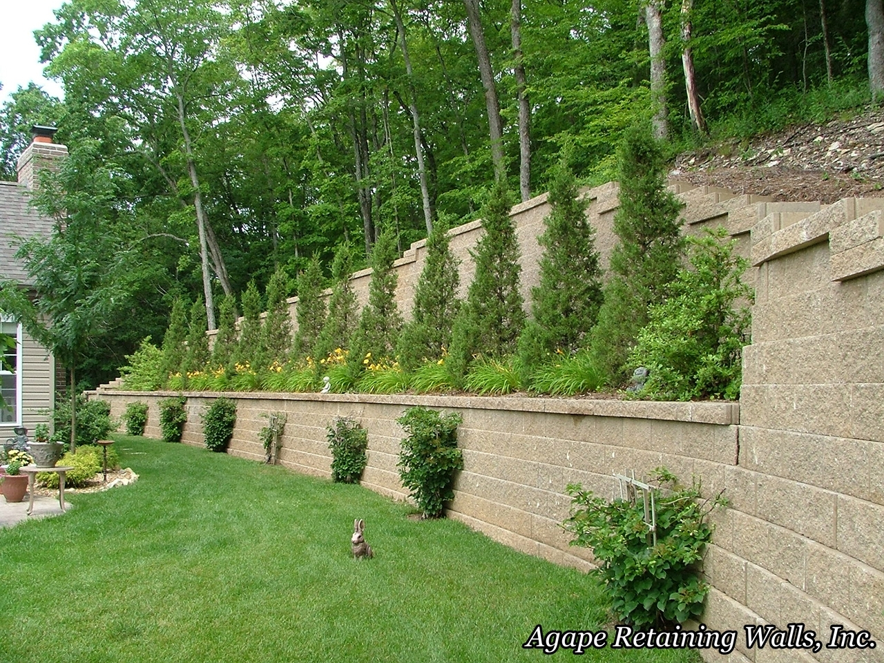Image of: Agape Retaining Walls Inc Terrace Photo Album 2 For Retaining Wall Landscaping Ideas For Retaining Wall Landscaping