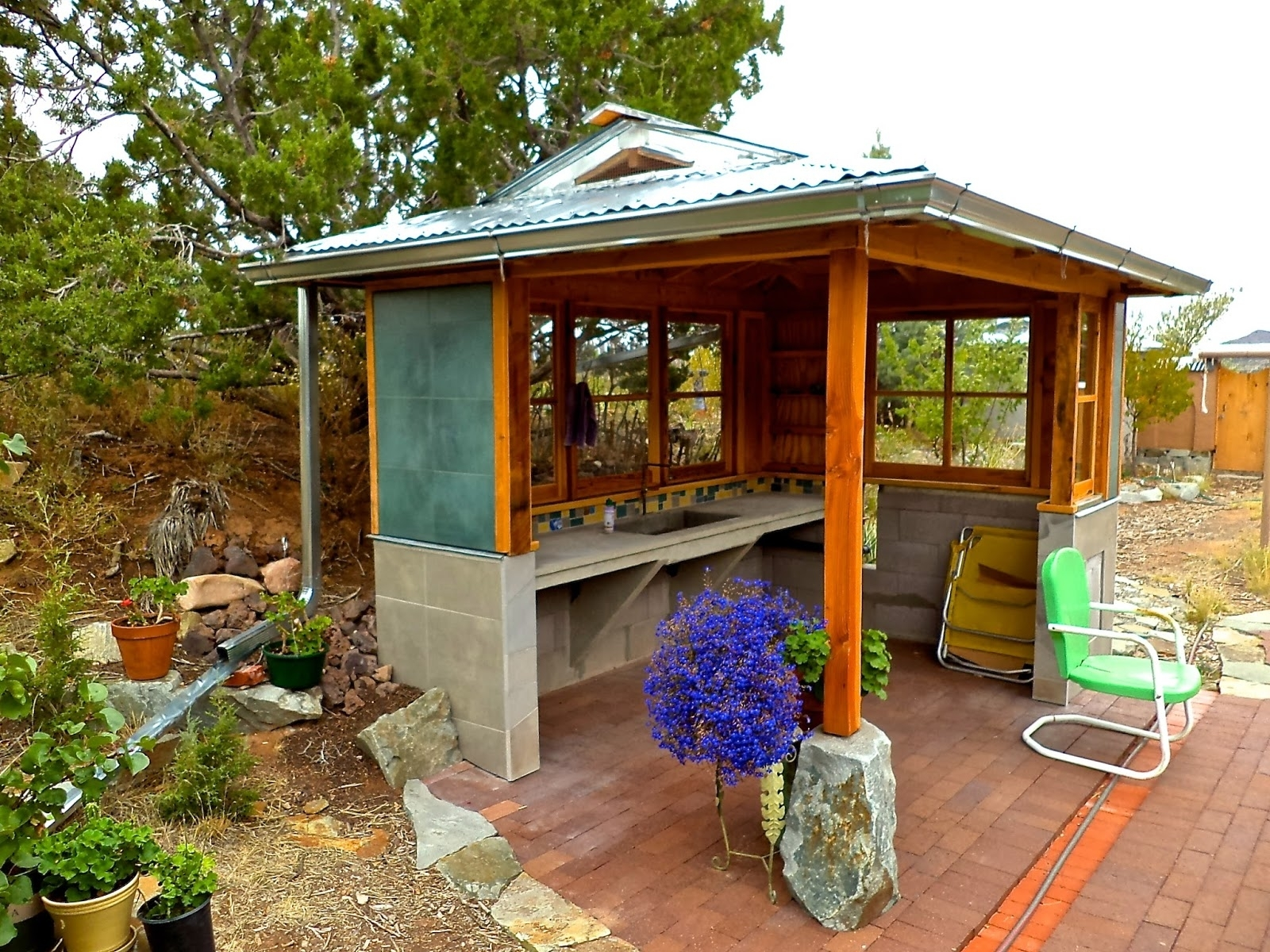 Image of: Alt Build Blog Building An Outdoor Kitchen 2 Framing The Walls Throughout Outdoor Kitchen Roofs Outdoor Kitchen Roofs Painting