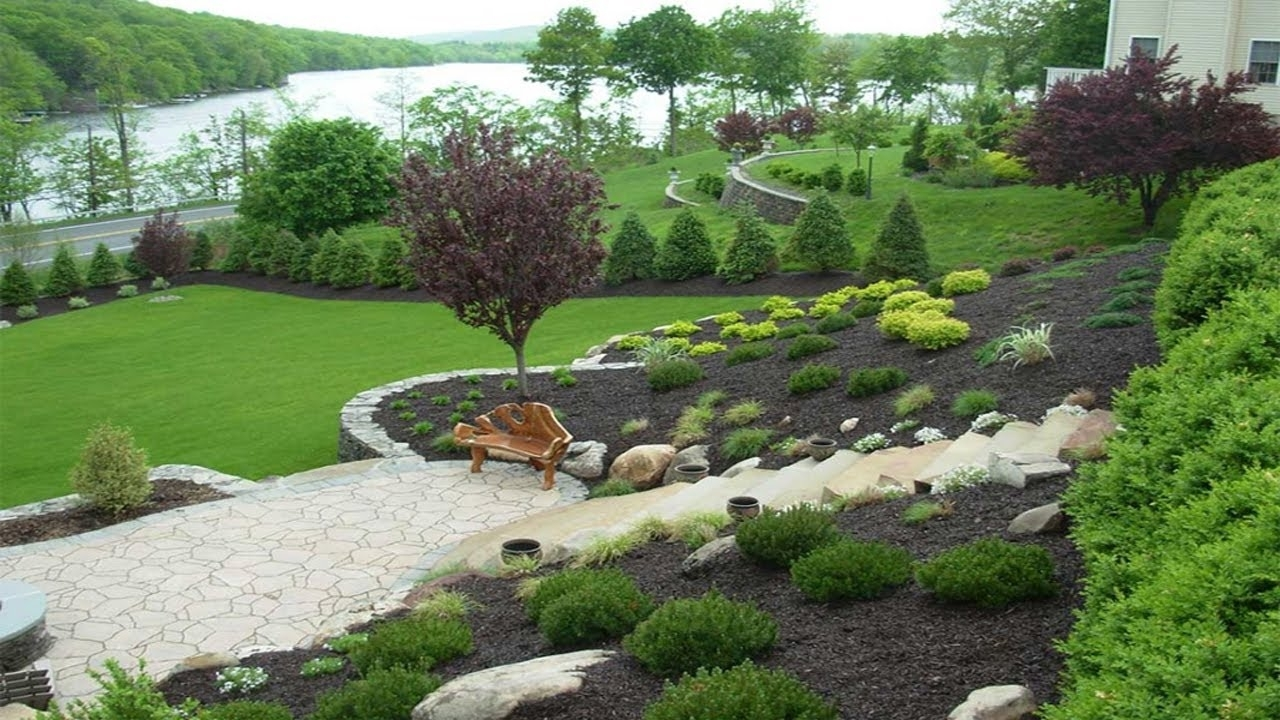 Image of: Amazing Designing Gardens On Slopes Slope Landscaping Ideas Regarding Landscaping Ideas For Slopes Attractive Landscaping Ideas For Slopes