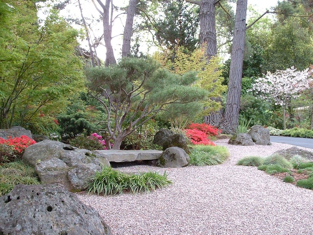 Image of: Asian Landscape And Yard With Exterior Stone Floors Kikuchi Throughout Decorative Landscape Gravel Different Types Decorative Landscape Gravel