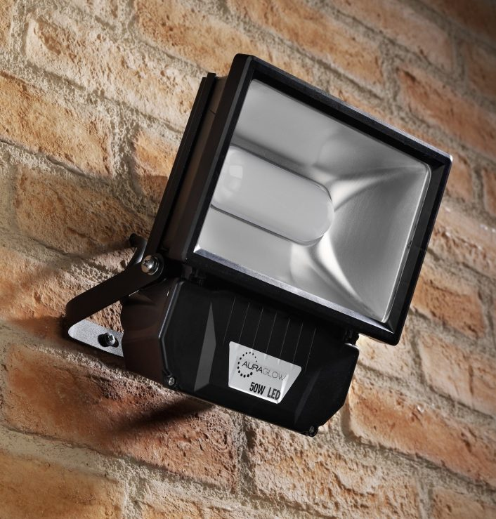 Auraglow 50w Led Security Light 250w Eqv Black Auraglow Led Within Outdoor Led Flood Light Fixture Outdoor Led Flood Light Fixture Design