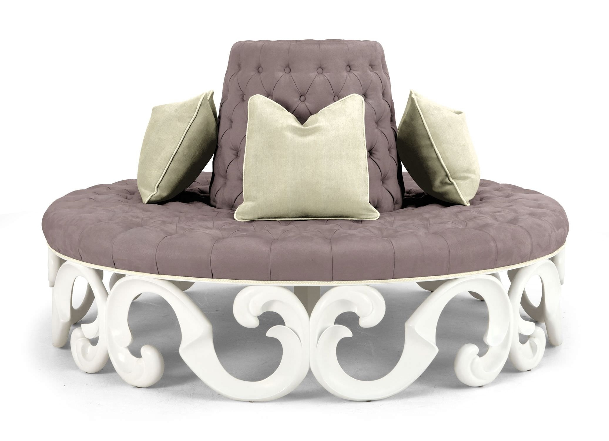 Image of: Awesome Oversized Round Outdoor Couch With Tufted Cushion And With Regard To Round Outdoor Cushion Diy Simple Round Outdoor Cushion