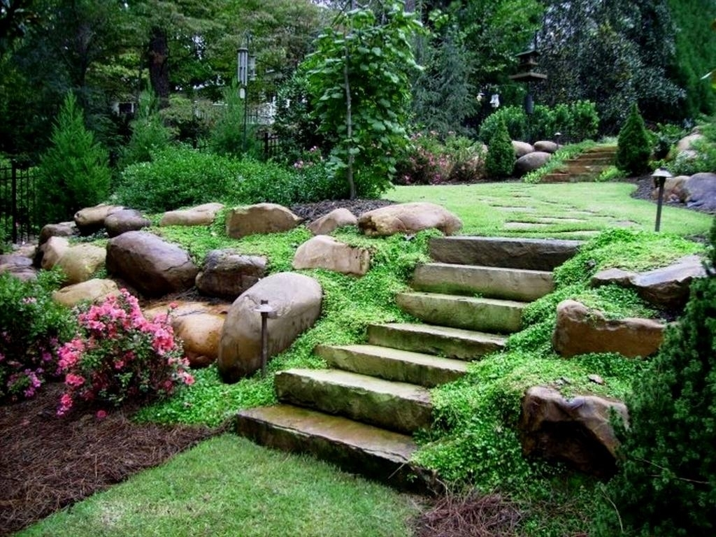 Image of: Backyard Hillside Landscape Ideas Designs Ideas And Decor Regarding Hillside Landscape Ideas Creative Hillside Landscape Ideas
