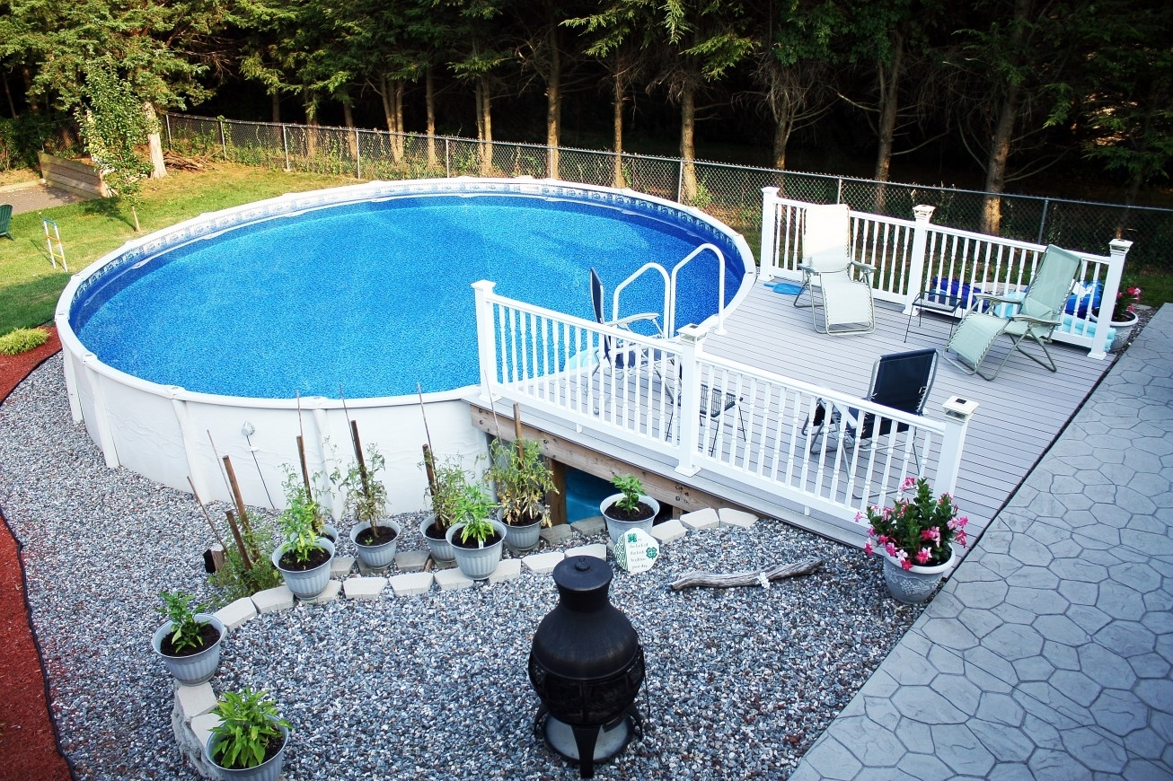 Image of: Backyard Landscaping Around Above Ground Pool Backyard Designs With Regard To Above Ground Pool Landscaping Ideas Above Ground Pool Landscaping