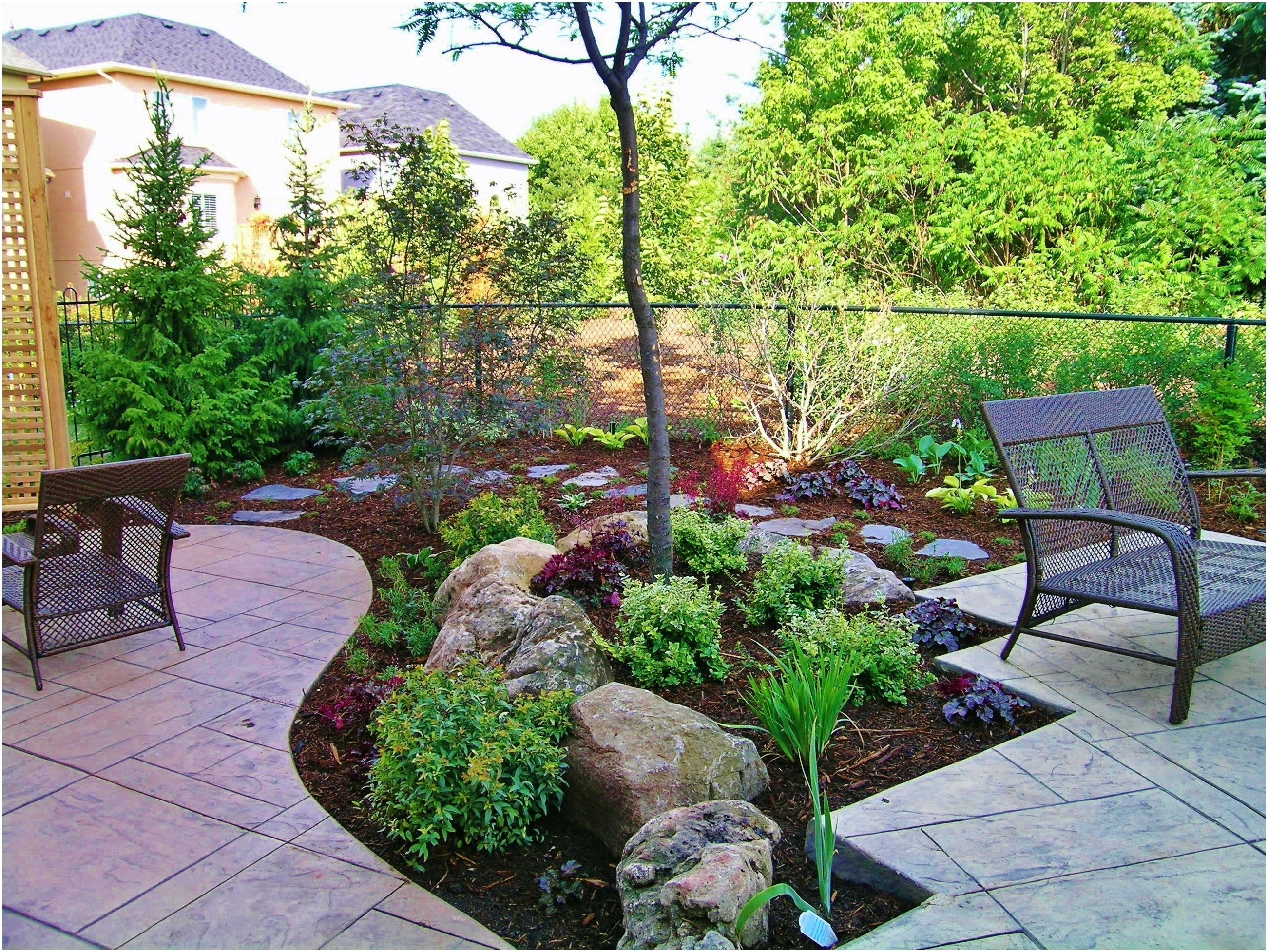 Image of: Backyards Appealing Easy Low Maintenance Backyard Landscaping With Backyard Landscaping Plans Cheap Backyard Landscaping Plans