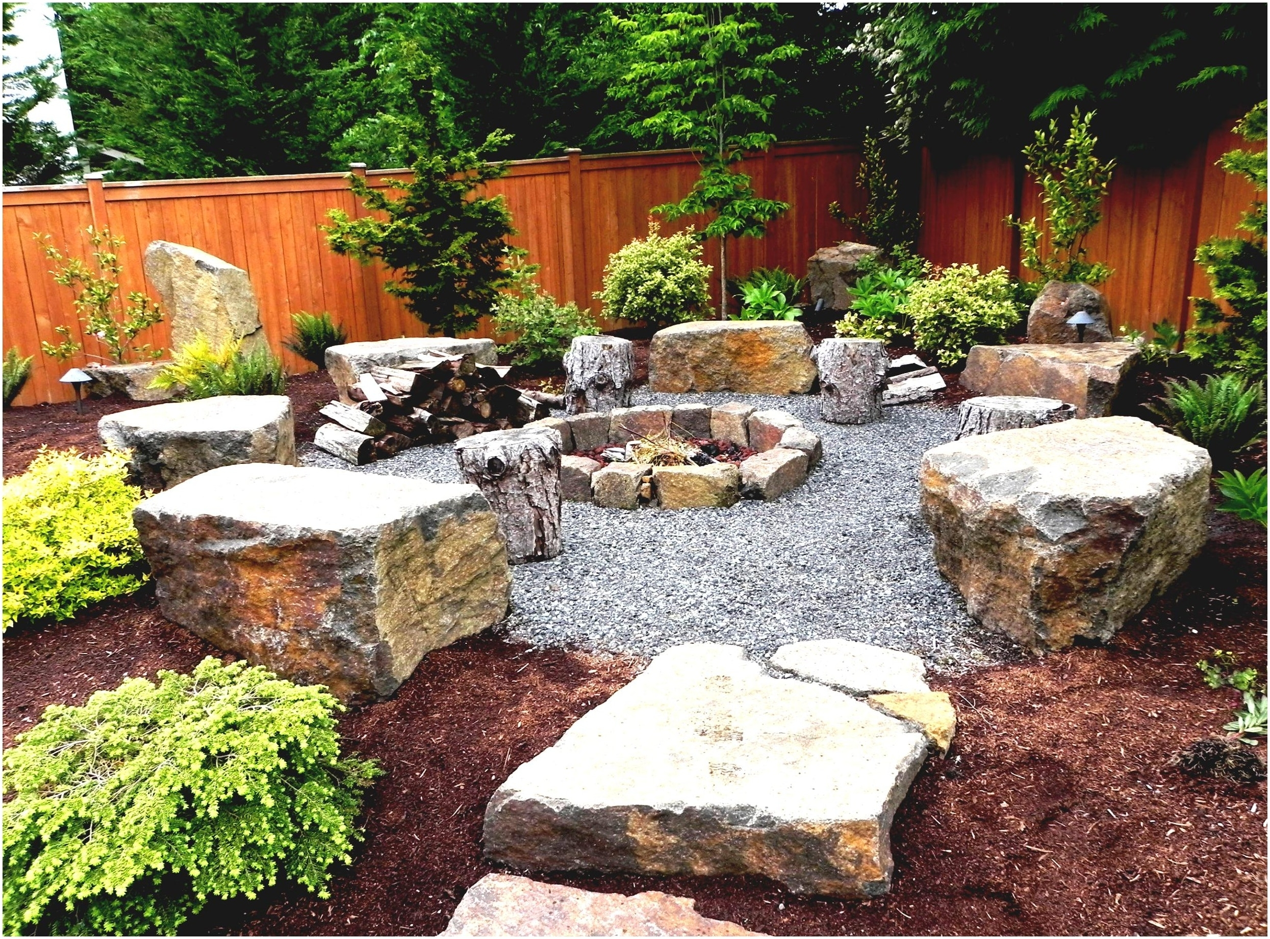 Image of: Backyards Splendid Natural Landscaping Fire Pit Designs For In Landscape Fire Pits Fireplaces Landscape Fire Pits